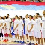 Кошаркашка утакмица Србија-Француска на видео биму у Центру Грачанице