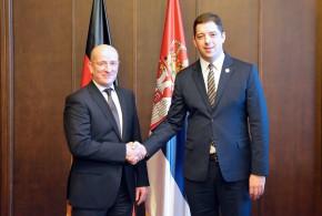 Ђурић са амбасадором Кристијаном Хелбахом