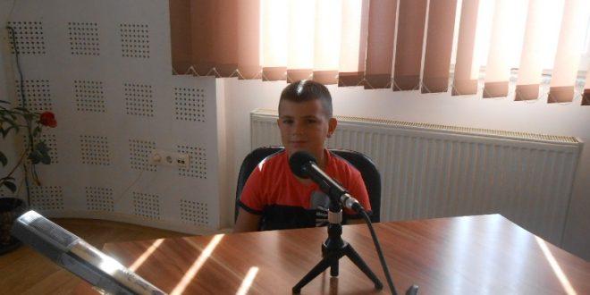 Деветогодишњи Никола Секулић, члан карате тима Србије на Светском првенству у Румунији