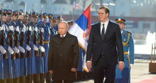 Вучић приредио свечани дочек за Путина испред Палате Србија
